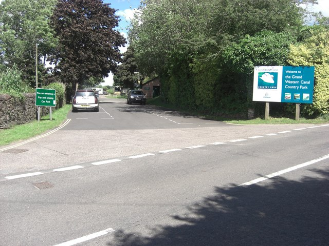 Entrance to the Grand Western Canal Country Park