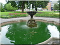 TQ2664 : Fountain in Manor Park looking towards the war memorial by Ian Yarham