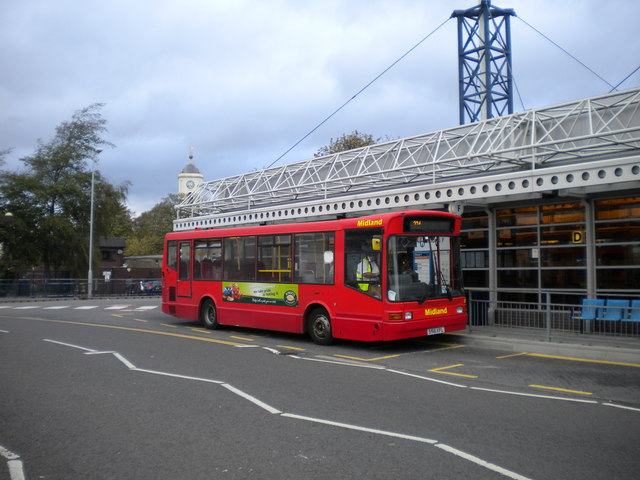 Bus in Bilston bus station