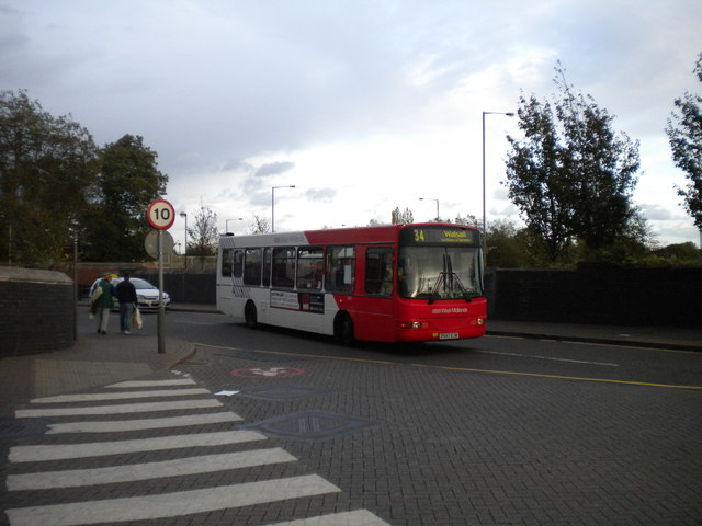 Entering Bilston bus station