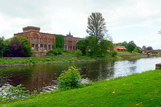 View of Rosefield Mills from Dock Park