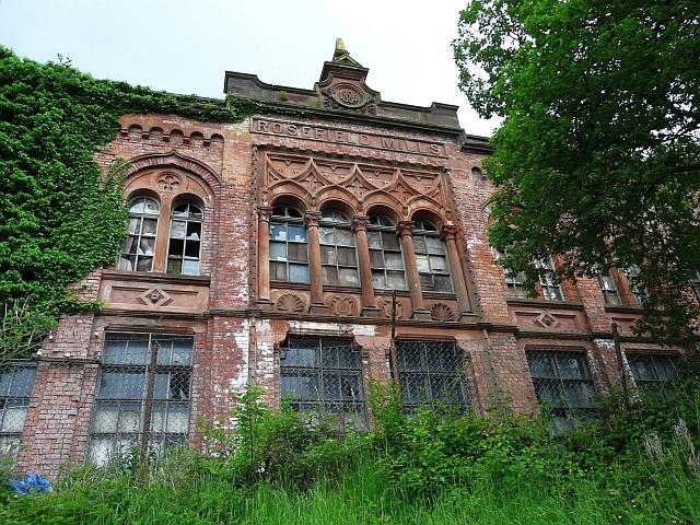 Rosefield Mills - elaborate riverside facade