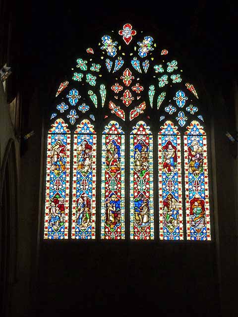 West window, St Mary's Church, Snettisham