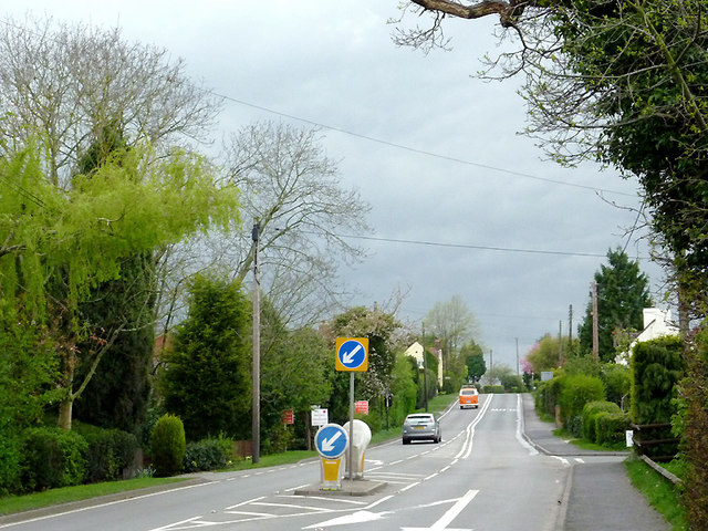 The A456 at Callow Hill, Worcestershire