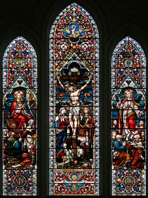 St John, North End Road, Fulham - Stained glass window