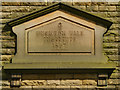 SD9801 : Datestone, Buckton Vale Institute by David Dixon