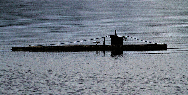 A model submarine on Loch Feochan