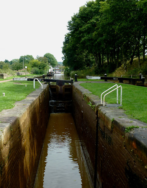 Paired Locks No 44 west of Kidsgrove, Cheshire