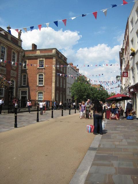Jubilee bunting, Worcester High Street