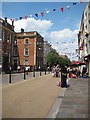 SO8554 : Jubilee bunting, Worcester High Street by Philip Halling