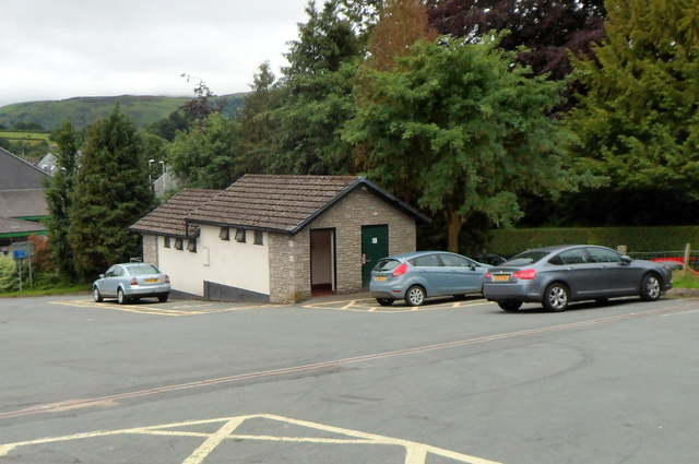 Public toilets in a parking area, Rhayader