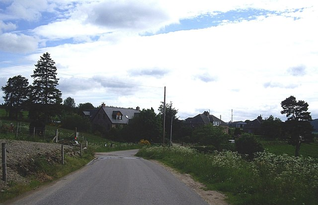 Approach to Culblean Cottages