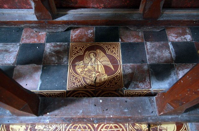 St Mary, Luddenham - Tiles