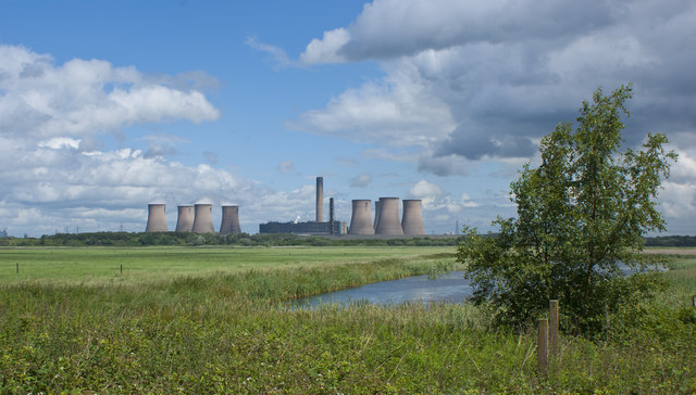 Fiddlers Ferry Power Station from Wigg Island