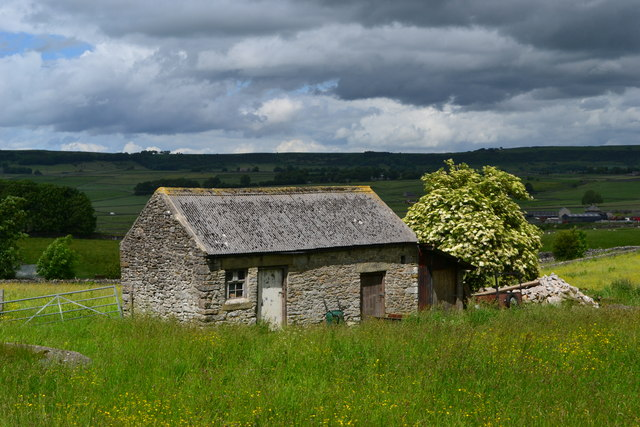 Limestone outbuilding in Wardlow