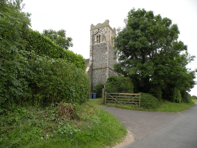 The tower of Knettishall church