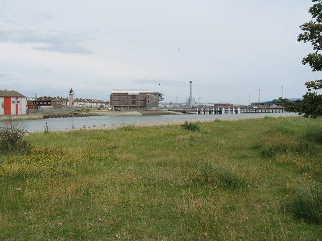 Lighthouse and Lifeboat station at Shoreham harbour