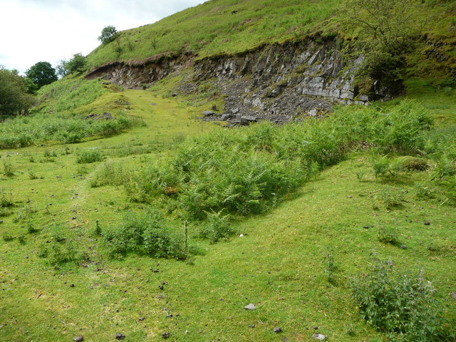 Site of old dwellings or huts