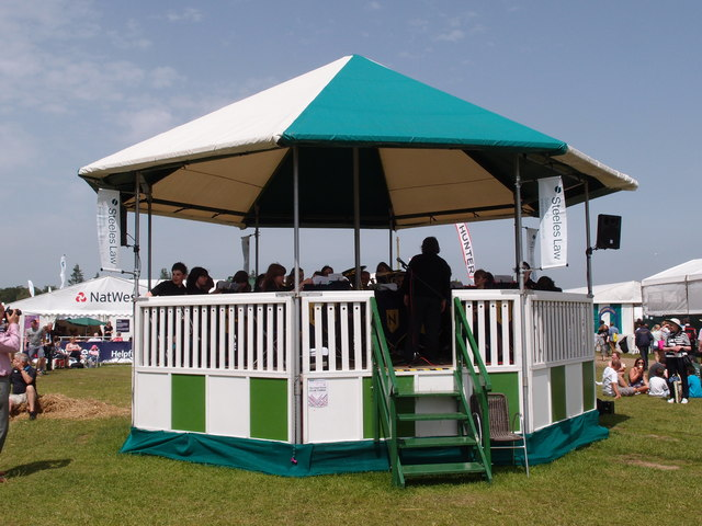 Band stand at the Royal Norfolk Show Ground