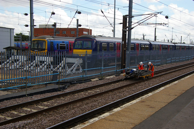Track maintenance workers, Hornsey Station