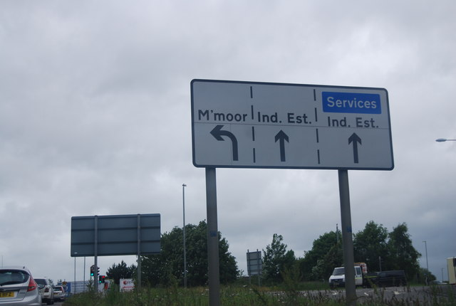 Road sign near Exeter Services