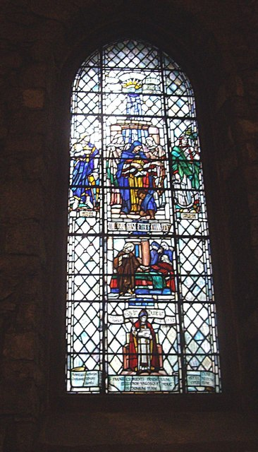 Stained glass window, St Machar