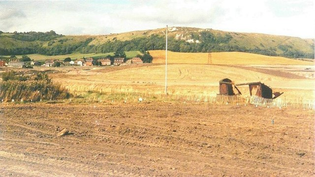 Cleared site for Channel Tunnel Terminal in 1988