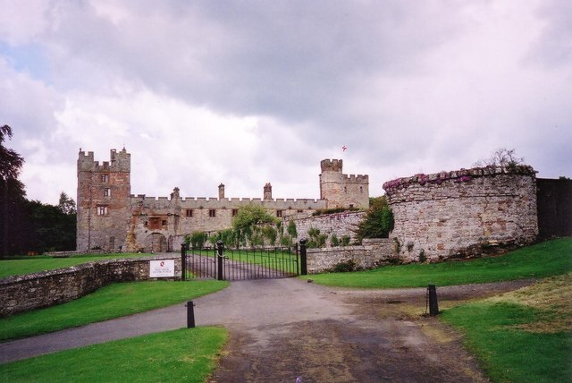 Gate and driveway to Naworth Castle