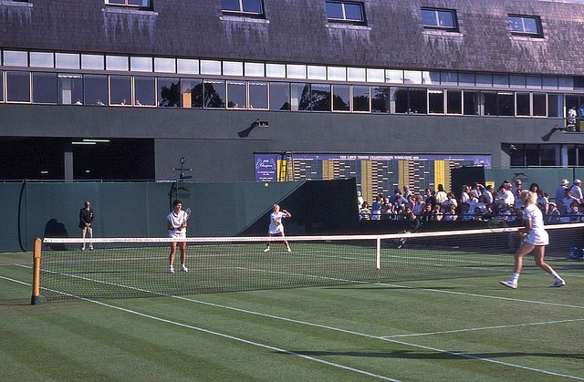 Wimbledon 1988 - Ladies' doubles match on Court 17
