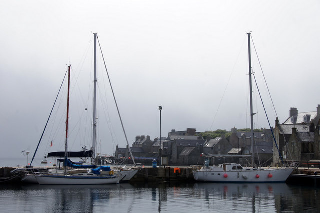 Yachts in the small boat harbour, Lerwick