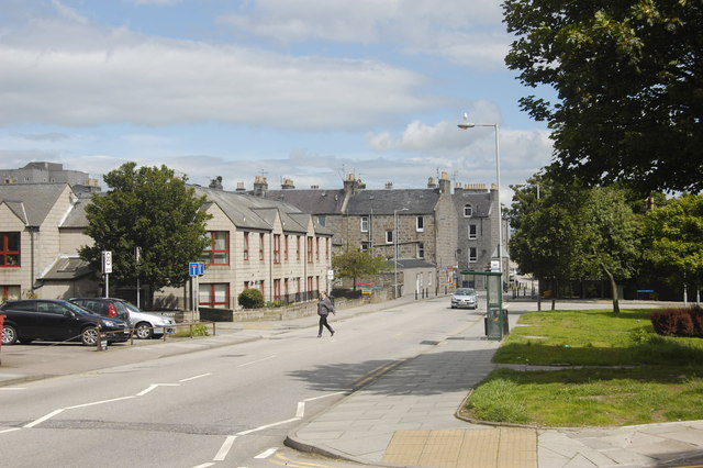 A look down Park Street, Aberdeen