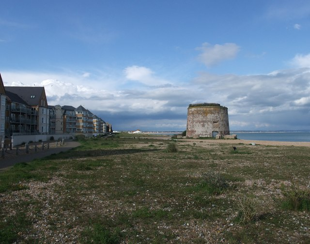 Martello Tower, north side of Sovereign Harbour, Eastbourne