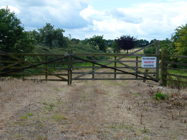 Gated entrance to the auction ground