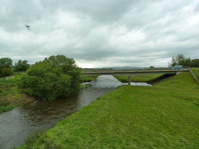 River Aire and new bridge which carries the A59