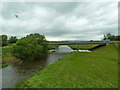 SD9651 : River Aire and new bridge which carries the A59 by Alexander P Kapp