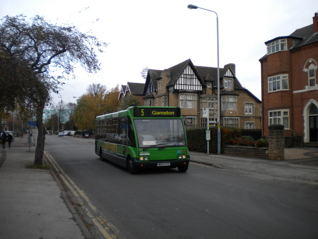 Bus on Musters Road, West Bridgford