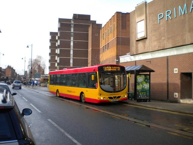 Bus on New Street, Burton upon Trent