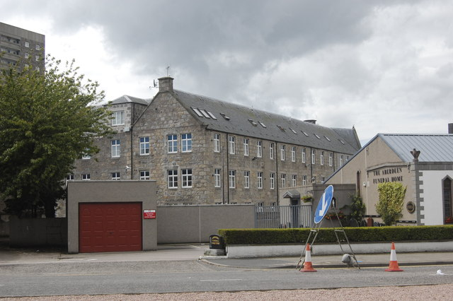 Former mill buildings, Hutcheon Street, Aberdeen