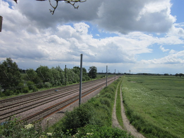 East coast main line from Raskelf Bridge