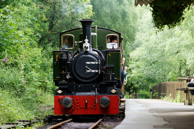 No.7 'Tom Rolt' Arrives at Abergynolwyn Station, Gwynedd