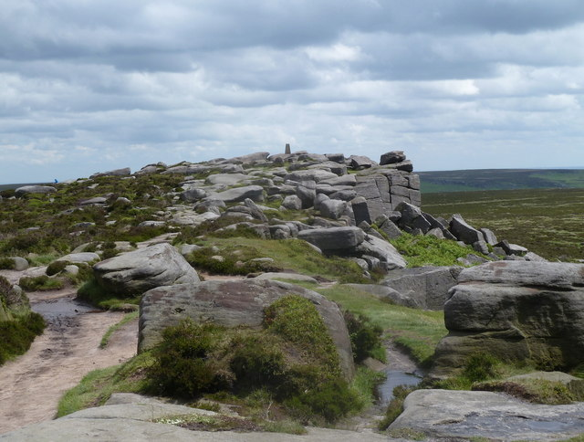 Towards a trig point on Stanage Edge