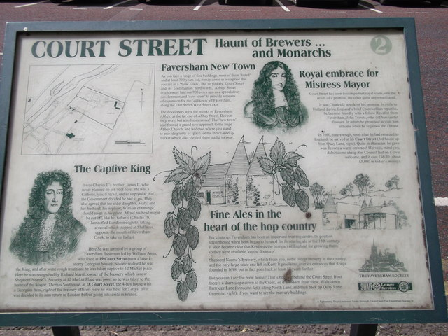 Court Street Plaque, Faversham