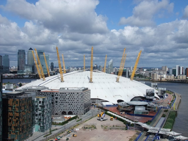 O2 Arena from the Emirates Air Line cable car