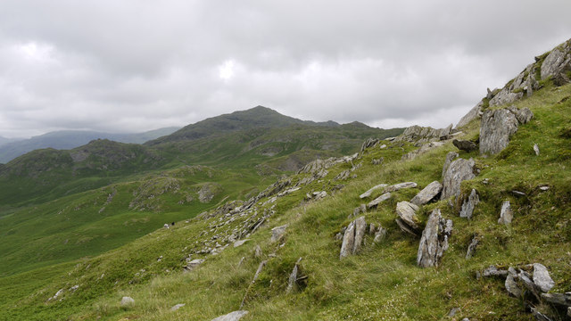 Slopes on north side of Stickle Pike