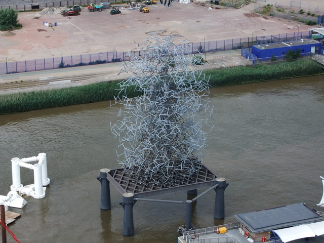 Antony Gormley Sculpture near O2 Arena Pier