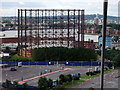 TQ3979 : Gas Holder taken from the Emirates Air Line cable car by PAUL FARMER