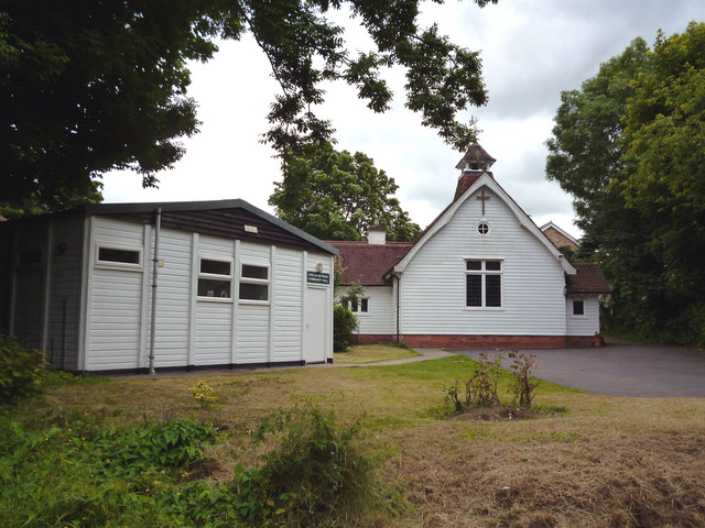 Warlingham, Chelsham Road:  Church and community hall