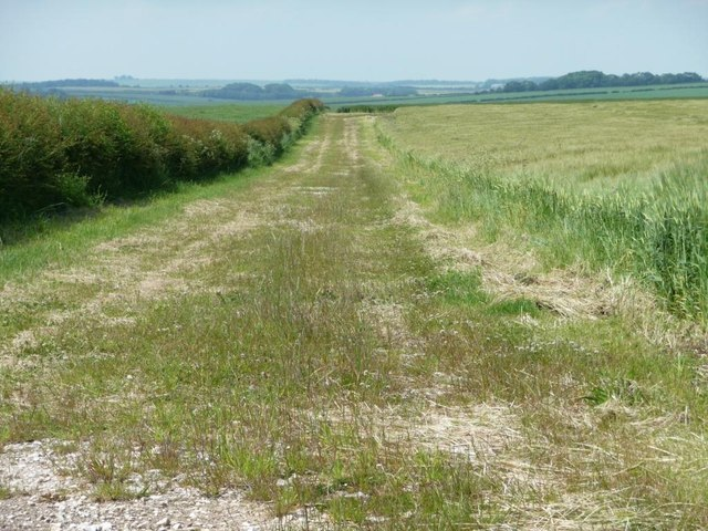 Mapped farm track, north-west of Grindale Road