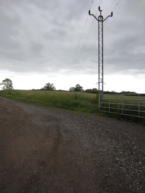 Electricity mast by the Puxley Path
