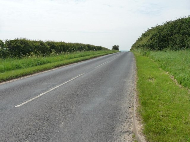 The road to Burton Fleming